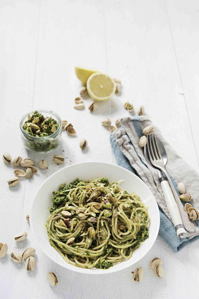 APG Grünkohl-Pistazien-Pesto mit Vollkorn-Spaghetti